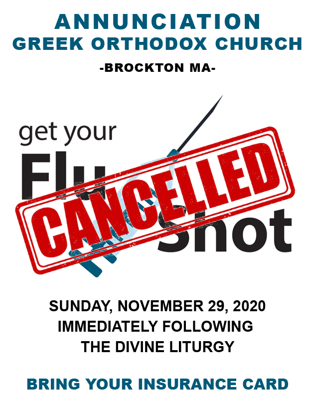 Sunday's Flu Clinic has been Cancelled